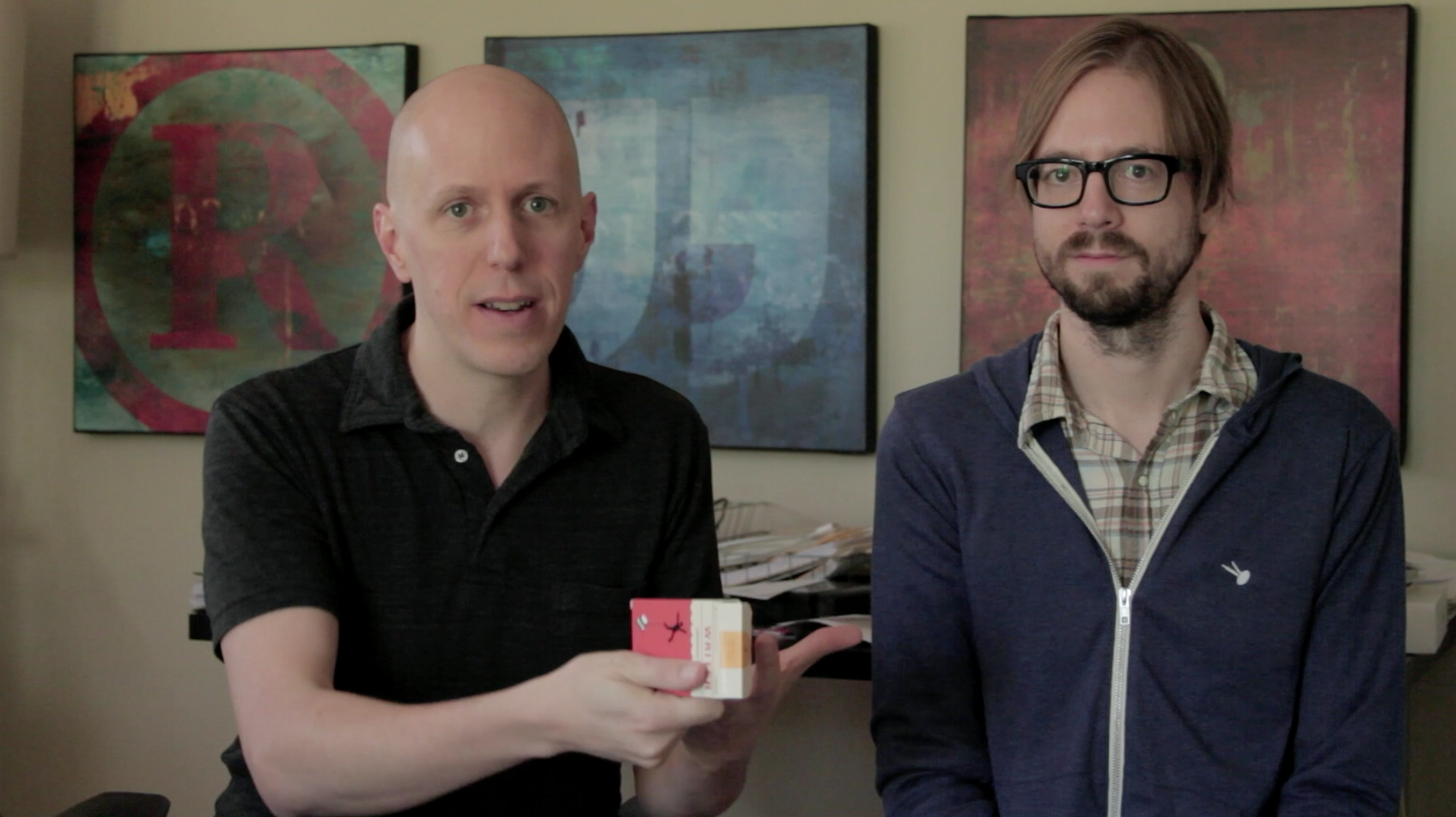 John August and Ryan Nelson, from the initial launch video